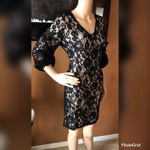 DKNY Women's Lace Illusion Sheath Dress DK7